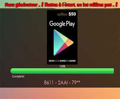 Codes Google Play gratuits
